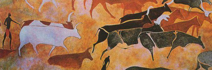 рисунки древних людей фото