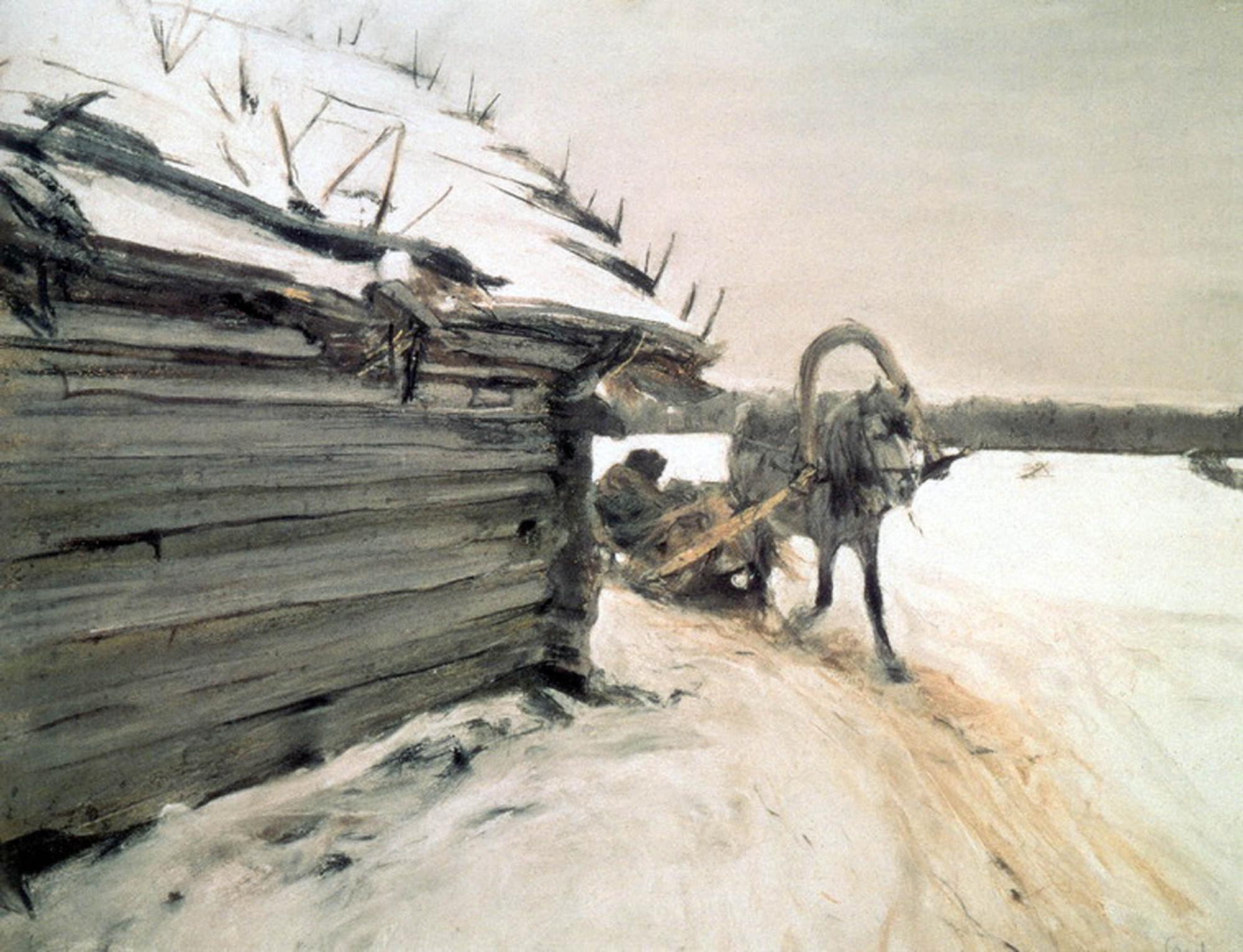 Зимой. В. Серов