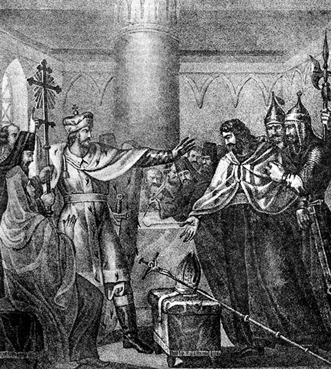 Василий II отвергает Флорентийскую унию. Взято с сайта: pochta-polevaya.ru