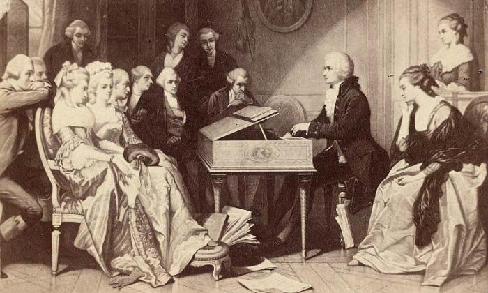 Моцарт играет свою оперу