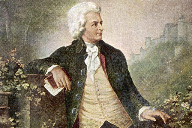 Картина с изображением Моцарта при жизни