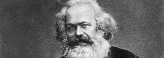 Карл Маркс черно-белое изображение