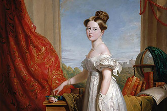 Картина молодой принцессы Виктории