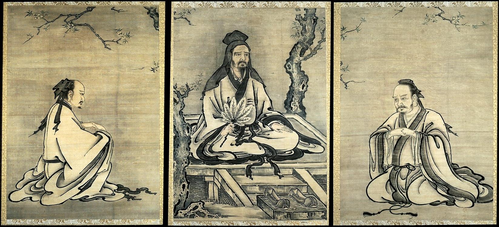 Конфуций медитирует