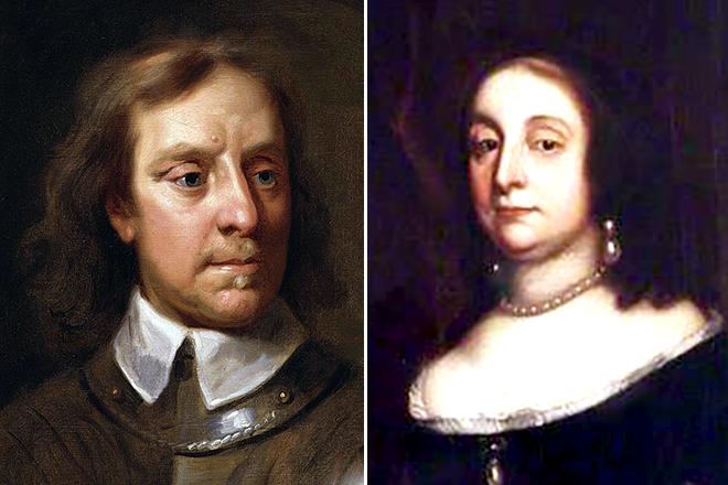 Оливер Кромвель и его жена