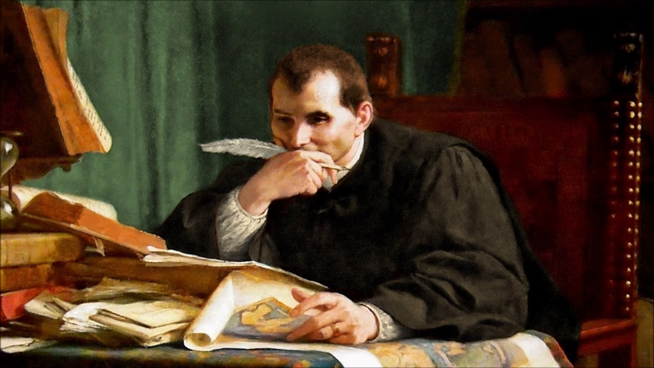Никколо Макиавелли думает за столом