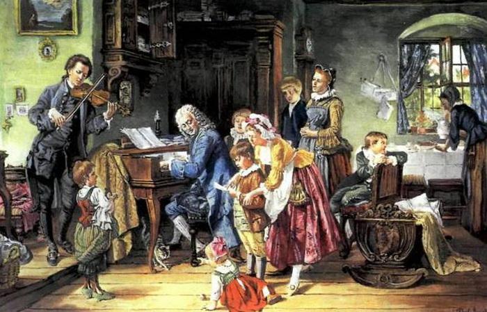 Иоганн Себастьян Бах в окружении детей