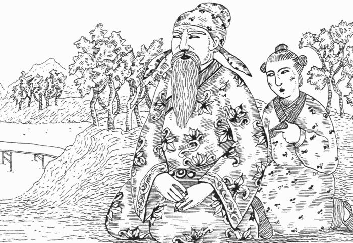 Конфуций с женой