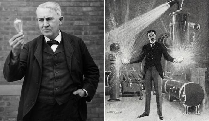 Лампочка Эдисона и переменный ток Тесла
