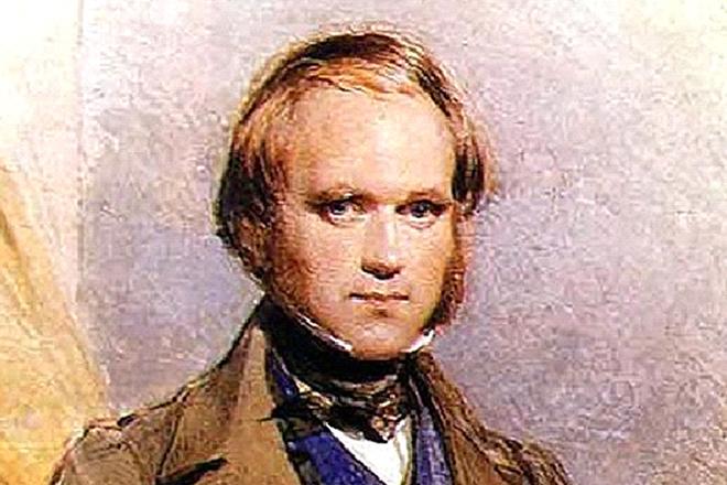 Картина с изображением Чарльза Дарвина