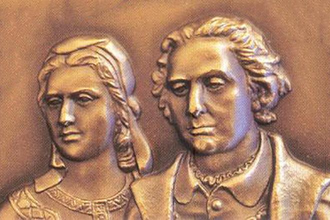 Христофор Колумб с женой