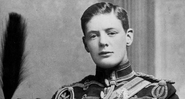 Молодой юноша Уинстон Черчилль