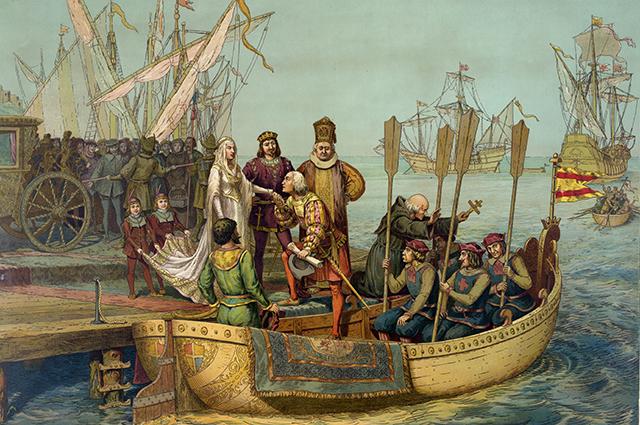 Колумб с королевой Изабеллой