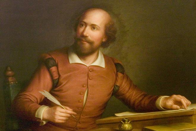 Уильям Шекспир пишет сонет