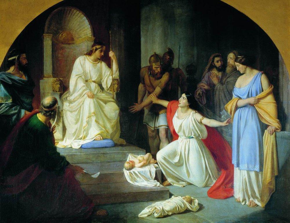 Легенда о Царе Соломоне и ребенке