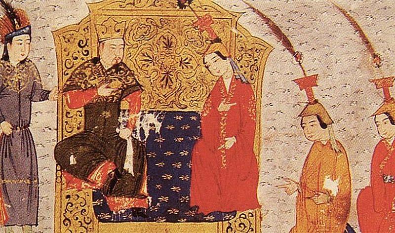 Чингисхан с наложницами