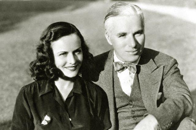 Чарли Чаплин с женой